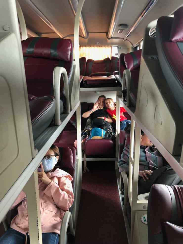 Dans notre bus-couchette - Can Tho / Saigon - Vietnam