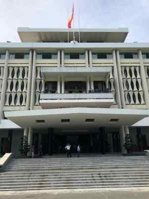 Façade du Palais de la Réunification - Saigon - Vietnam
