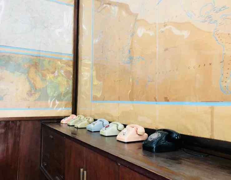 Téléphones présidentiels - Palais de la réunification - Saigon - Vietnam