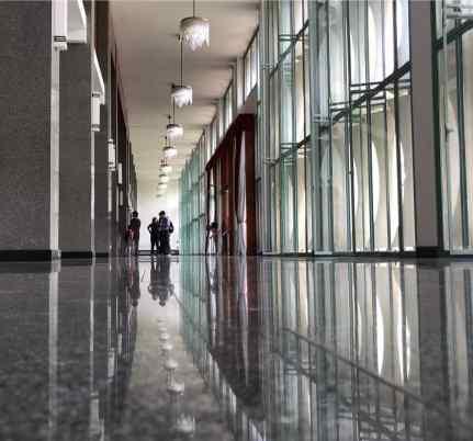 Couloirs du Palais de la réunification - Saigon - Vietnam
