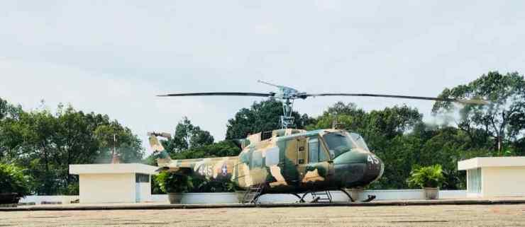 Piste d'hélicoptère - Palais de la réunification - Saigon - Vietnam