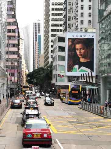 Hong-Kong, temple du shopping ! Ici pub géante pour Sandro - Hong-Kong.