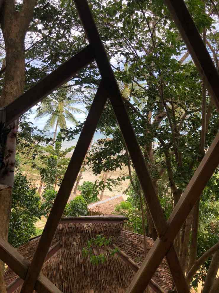 Vue de notre terrasse - Sibaltan - Palawan- Philippines