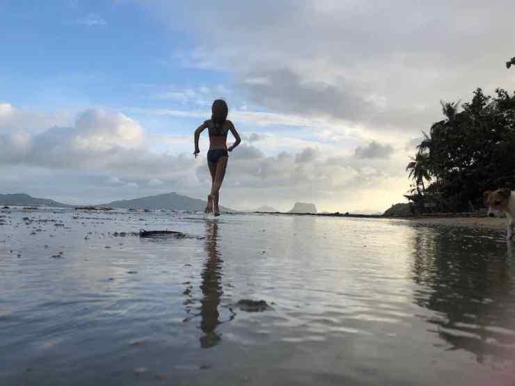 Eden sur notre plage de Sibaltan - Palawan - Philippines