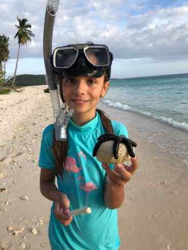 Eden a trouvé une étoile de mer ! - Palawan - Philippines