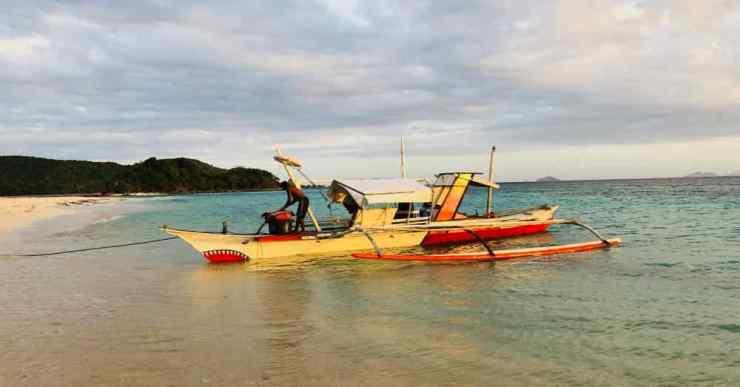 La bangka qui nous ramènera de l'ile déserte - Palawan - Philippines