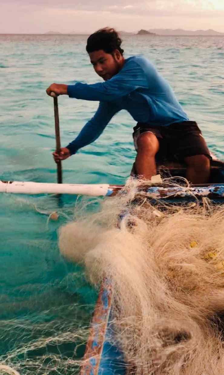 Notre pêcheur sur l'ile déserte - Palawan - Philippines