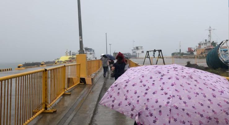 Départ précipité sous le déluge - Bohol - Philippines