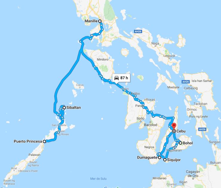 Notre itinéraire aux Philippines