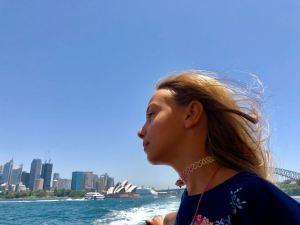 Eden dans la baie de Sydney, l'opéra et la city en toile de fond - Australie