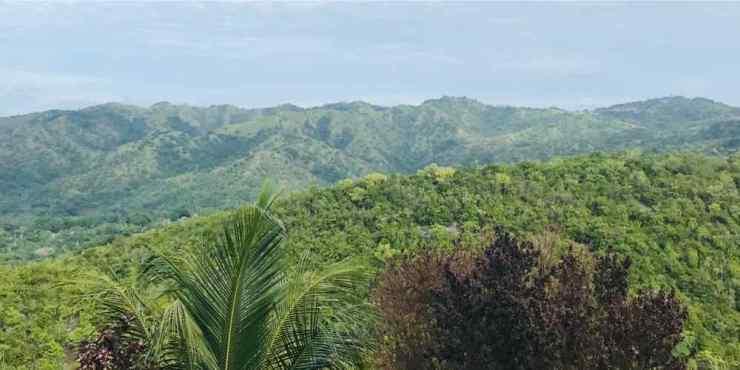 Vue sur l'île de Siquijor version terre depuis le restaurant panoramique - Philippines