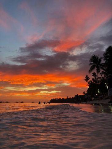 Coucher de soleil sur Alona Beach - Panglao - Philippines