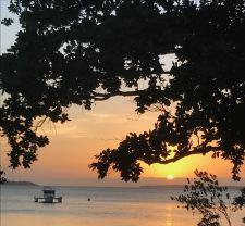 Coucher de soleil à Pangangan Island - Bohol - Philippines