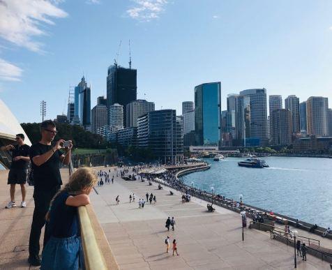Vue sur la City depuis l'opéra de Sydney - Australie