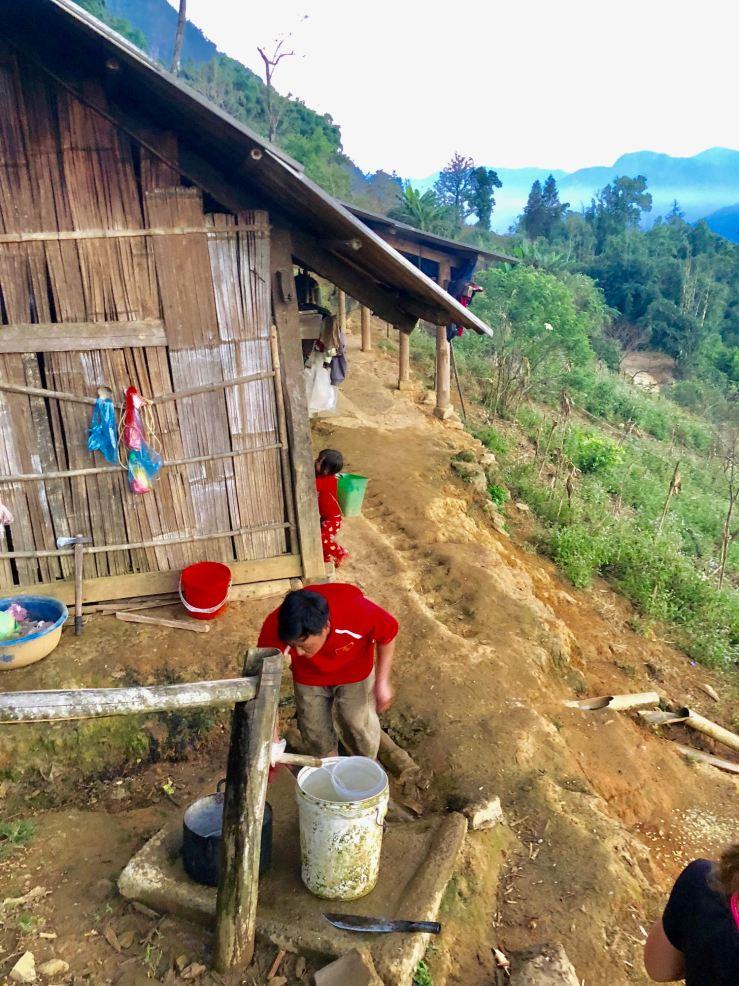L'eau de la source chez Sing - Sapa - Vietnam