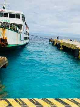 Même l'eau du port est turquoise ! - Siquijor - Philippines