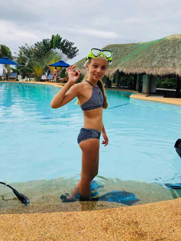 Après le baptême de plongée - Siquijor - Philippines