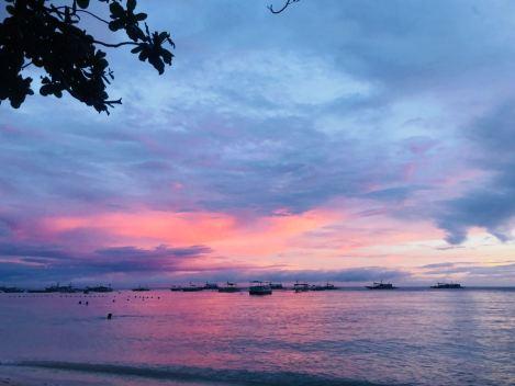 Coucher de soleil après la pluie - Alona Beach - Panglao - Philippines