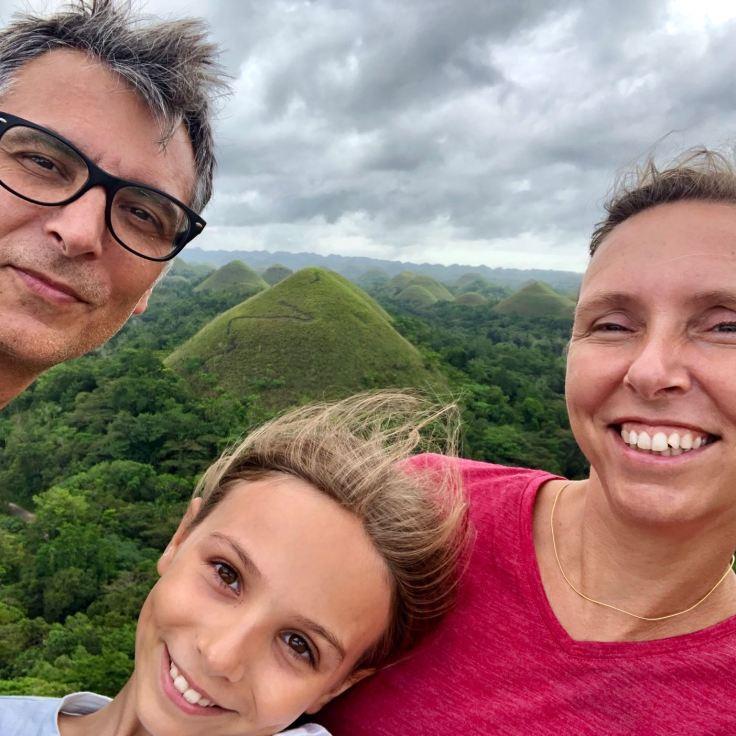 Selfie devant les Chocolate Hills - Bohol - Philippines