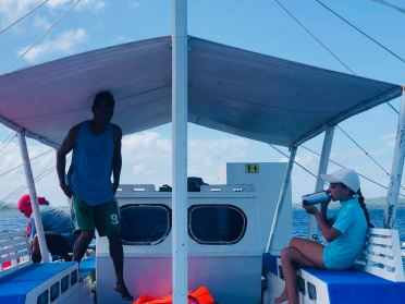 Sur la Bangka pour rejoindre la mangrove - Pangangan Island - Bohol - Philippines