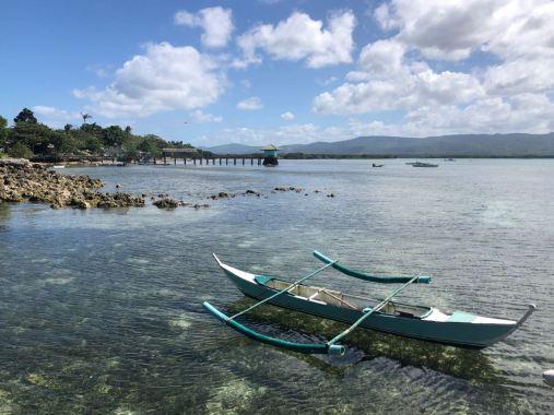 Jolie Bangka devant notre hôtel - Pangangan Island - Bohol - Philippines