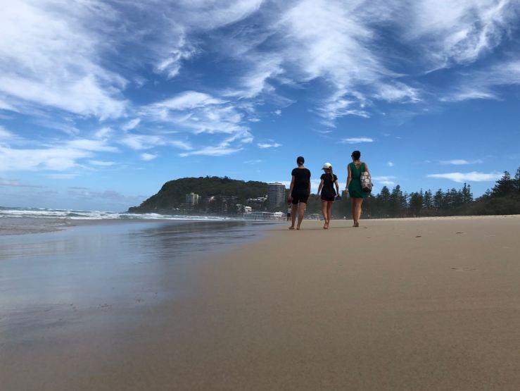 Bande de filles sur la plage - Gold Coast - Australie