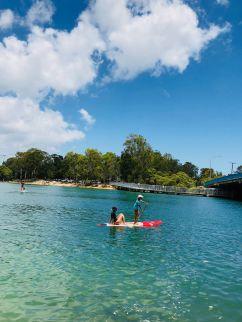 Paddle sur la rivière - Gold Coast - Australie