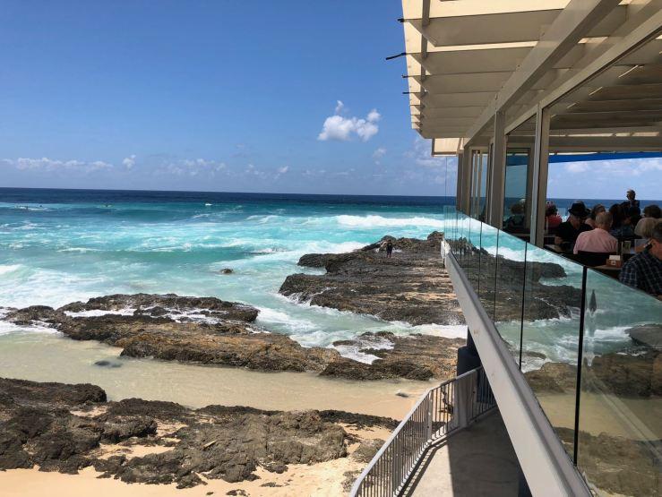 Vue depuis la terrasse de notre resto - Gold Coast - Australie