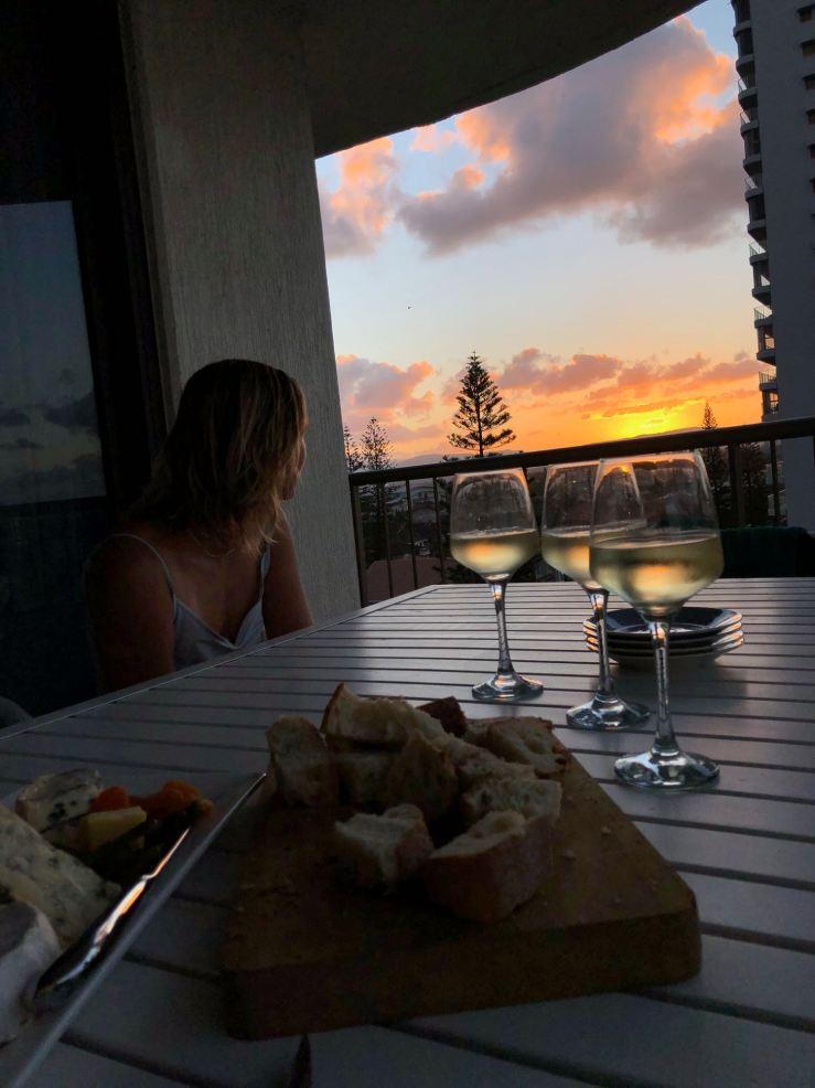 Nostalgie de dernière soirée. Coucher de soleil sur Gold Coast - Australie
