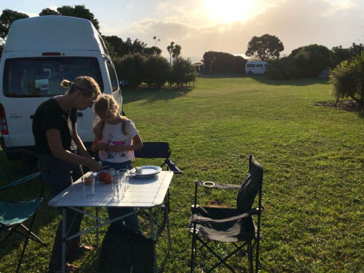 Premier diner en Nouvelle Zélande - Ambury Regional Park