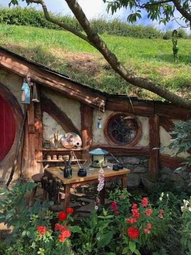 Trou de Hobbit peintre - Hobbiton - Nouvelle-Zélande