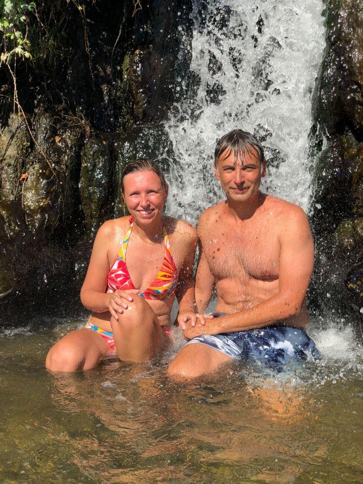 Sous la douche chaude des Hot Springs - Taupo - Nouvelle-Zélande