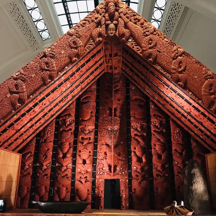 Maison commune traditionelle Maori - Musée d'Auckland - Nouvelle Zélande