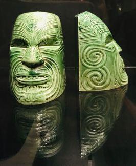 Sculpture Maori, magnifique - Musée d'Auckland - Nouvelle Zélande