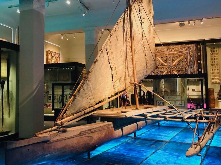 Pirogue traditionnelle Maori - Musée d'Aukland - Nouvelle Zélande