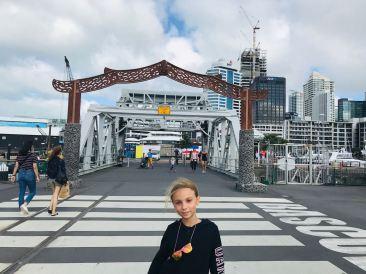 Eden devant Viaduc Harbour - Auckland - Nouvelle Zélande