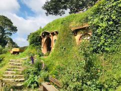 Devant chez Bilbon - Hobbiton - Nouvelle-Zélande