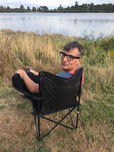 Geoffrey HEU-REUX au bord du lac près de Wai O Tapu - Nouvelle-Zélande