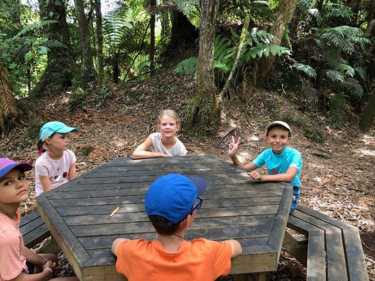 Conciliabules enfantins - Whanganui River - Nouvelle-Zélande