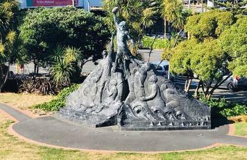 Sculpture hommage au Rugby - Wellington - Nouvelle-Zélande