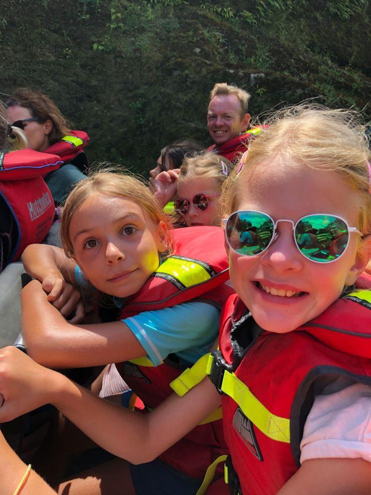 Les filles, trop contentes dans le Jet Boat - Nouvelle-Zélande