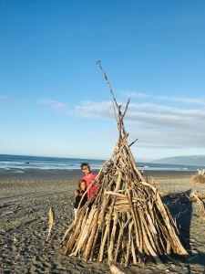 Tipi achevé - Westport - Nouvelle-Zélande