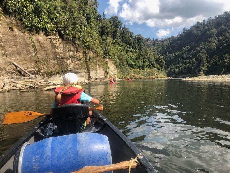 En kayak sur la Whanganui River - Nouvelle-Zélande