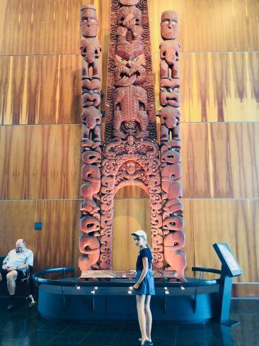Porte Maori - Musée Te Papa - Wellington - Nouvelle-Zélande