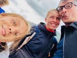 Selfie sur le ferry - arrivée dans l'Ile Sud - Nouvelle-Zélande
