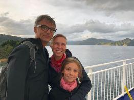 On nous a proposé de nous prendre ensemble. Beaucoup mieux ! - Arrivée dans l'île Sud en ferry - Nouvelle-Zélande