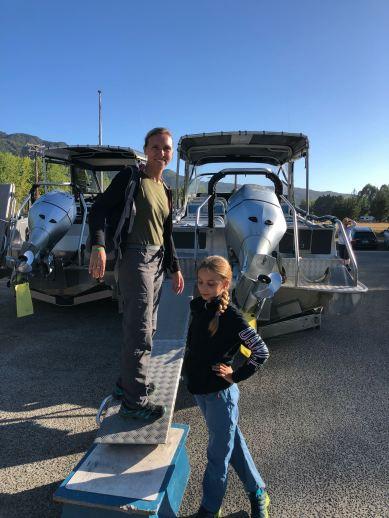 Montée à bord du bateau, sans eau... - En route pour Bark Bay - Parc Abel Tasman - Nouvelle-Zélande