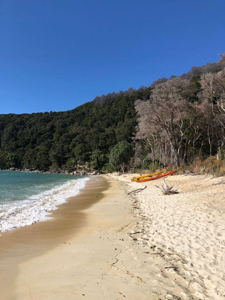 Débarquement à Bark Bay - Parc Abel Tasman - Nouvelle-Zélande