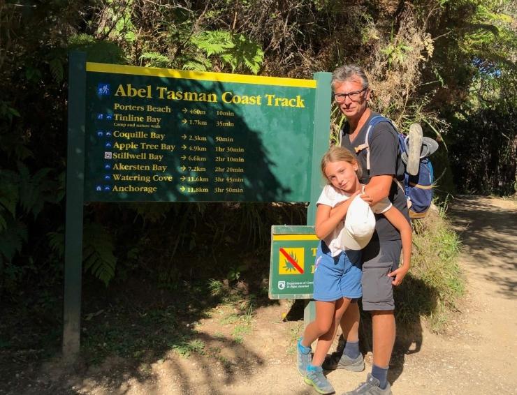 C'est parti pour 22 km ! - Parc Abel Tasman - Nouvelle-Zélande
