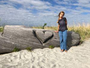 On a trouvé un tronc sculpté - Westport - Nouvelle-Zélande